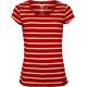Elkline Anna T-Shirt Women chilipepperred-white